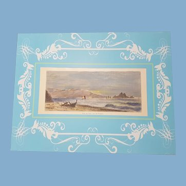 view of  point san pedro  san Francisco  California     Appleton & co engraving hand colored 1872 United Sates woodcut hand colored