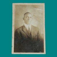 AZO Photo Postcard, Portrait of a Gentleman