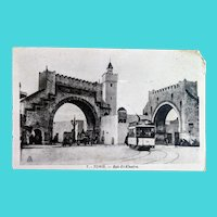 Postcard of Bab El Khadra Gate, Tunis, Tunisia