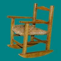 Rush Seat Doll Rocking Chair