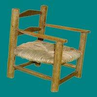 Rush Seat Doll Arm Chair