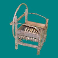 Rustic Bentwood and Twig Outdoors Doll Chair