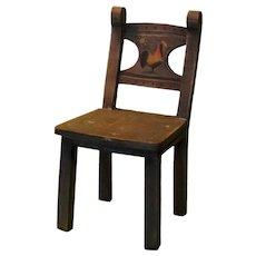 Folk Art Painted Doll Chair
