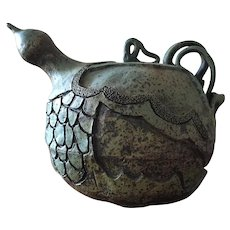 Folk Art Whimsical Glazed Pottery Sculpture - Unknown North Georgia Artist