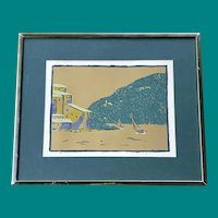 """Lawrence P. Lerfald (American, Born 1938) - Limited Edition 1972 Signed and Numbered Print """"Costa del Sol"""" 19/27"""