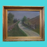 French Impressionist Landscape - Unknown Signature, Possibly M. Luce  - Oil on Board