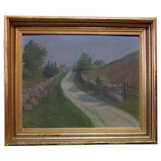 Unknown Signature, Possibly M. Luce  - Oil on Board