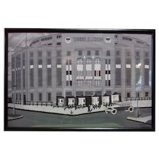 New York Yankee Stadium - Acrylic on Poster Paper