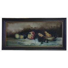 Still Life - Oil on Canvas - Illegible Signature