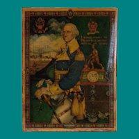 Arthur Szyk - Postcard of George Washington, mounted on stiff cardboard