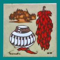 Cleo Teissedre (American, 1930-2020) - Hand Painted Ceramic Tile