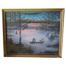 "Charles E. Williams - Oil on Panel - ""Bayou"""