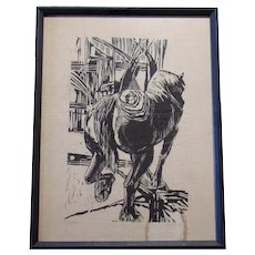 Signed Judith Niver - Woodblock Print on Paper