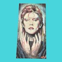 David Bowie as Ziggy Stardust - Ben Angotti - Oil on Canvas
