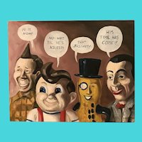Martin Short, Mr. Peanut, Frisch's Big Boy and Pee-wee Herman Oil on Canvas