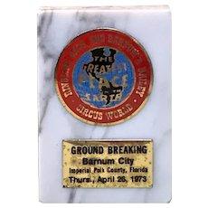 1973 Ringling Bros. And Barnum & Bailey Circus Memento on Italian Marble