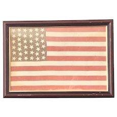 38 Star American Flag, 1876-1890 Hand-Sewn
