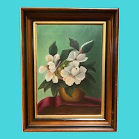 Flowers in Vase Still Life - Signed Mabel Smith - Oil on Board