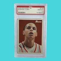 2009-2010 Bowman 48 Stephen Curry Rookie Card Gem Mint 10, 1590/2009