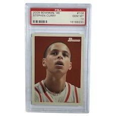2009-2010 Bowman 48 Stephen Curry Rookie Card