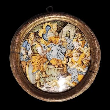 Glazed Terracotta Roundel
