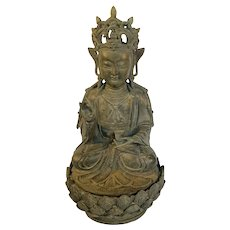 Good Ming Dynasty Bronze Buddha