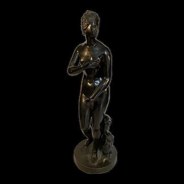 "Early Italian Bronze Figure of the so called ""Medici Venus."" 17th/18th century"