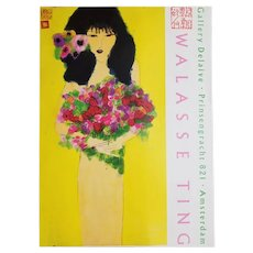 Walasse Ting Exhibition Poster- Galerie Delaive- Amsterdam