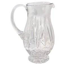 Vintage Clear Crystal Water Pitcher