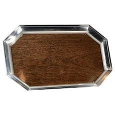 Silver Plated Serving Tray - Retro - Crafted in Brazil by St. James