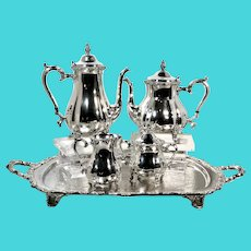 Webster Wilcox Silver Plated - 5 Piece Tea & Coffee Set - Vintage