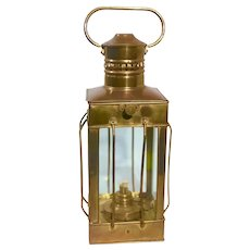 Vintage Nautical Marine Solid Brass Lantern Oil Lamp