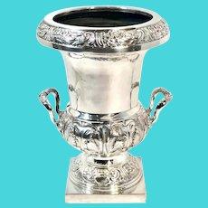 1950s Silver Plated Victorian Champagne Holder Shape Planter/Vase