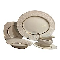 Gold Rimmed Vintage Patrician Wedgwood Dishes Patrician