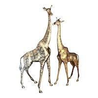 1970s Solid Brass Mid-Century Modern Giraffes
