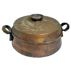 Hand Hammered Copper / Tin Pot Early 20th Century