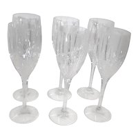 Contemporary Wine Glasses Mikasa Uptown Cut Crystal