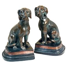 """Bronzed"" Dog Resin Bookends"
