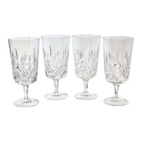 Gorham King Edward Crystal Hand Blown Ice Tea Glasses