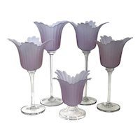 Flower Candle Holder Glass