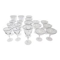 Vintage Fostoria Glasses Platinum Rimmed