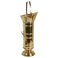Vintage Brass Match Bucket / Kindling Holder