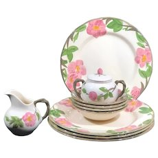 Franciscan Desert Rose Dinner Plates, Bowls, Cream and Sugar