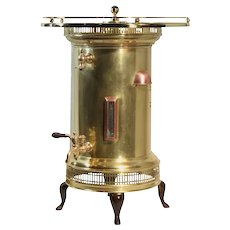 Antique Brass & Copper Coffee Pot