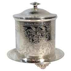 Baker Ellis Champagne Holder Ice Bucket / Tea Biscuit Jar Silver Plated England
