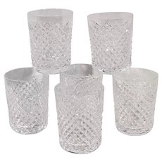 Waterford Alana Crystal Tumblers Set of 6 Juice Glass 5 Oz. Discounted