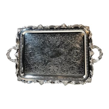 Vintage Birmingham Silver Co. Silver Plated Footed Tray