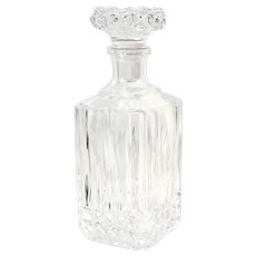 Cristal d'Arques-Durand Tuilleries Villandry Heavy Cuts Square Top Decanter