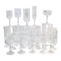 Cristal d'Arques Durand Longchamp 5 Pc. Place Setting - 6 Sets / 30 Total Pieces