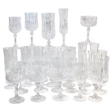 Cristal d'Arques Durand Longchamp 5 Pc. Place Setting - 6 Sets / 30 Total Pieces